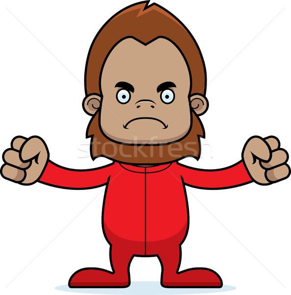 Cartoon Angry Sasquatch In Pajamas Stock photo © cthoman
