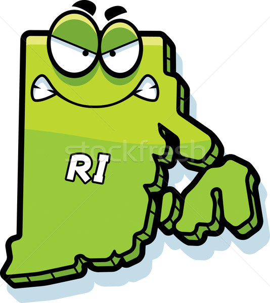 Cartoon Angry Rhode Island Stock photo © cthoman