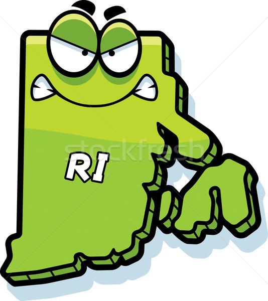 Karikatür öfkeli Rhode Island örnek bakıyor Amerika Stok fotoğraf © cthoman