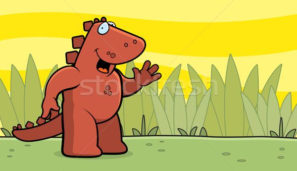 Dinosaur Waving Stock photo © cthoman