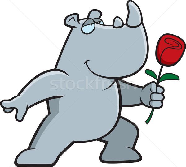 Rhino Flower Stock photo © cthoman
