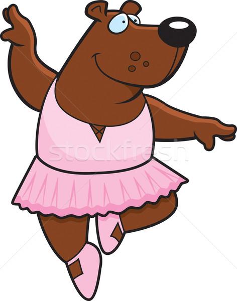 Stockfoto: Ballerina · beer · gelukkig · cartoon · dans · dier