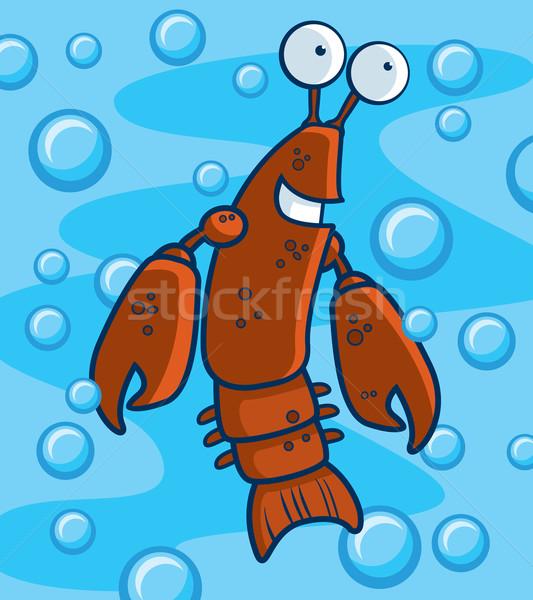 Sualtı mutlu karikatür gülen göz deniz Stok fotoğraf © cthoman