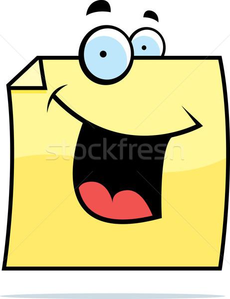 付箋 笑みを浮かべて 漫画 幸せ 紙 ストックフォト © cthoman
