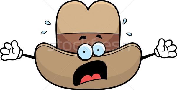 Bać cowboy hat cartoon zachodniej Zdjęcia stock © cthoman