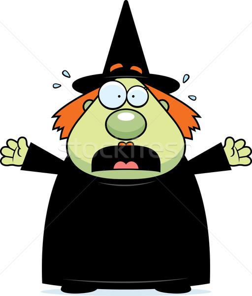 Paura strega cartoon Foto d'archivio © cthoman