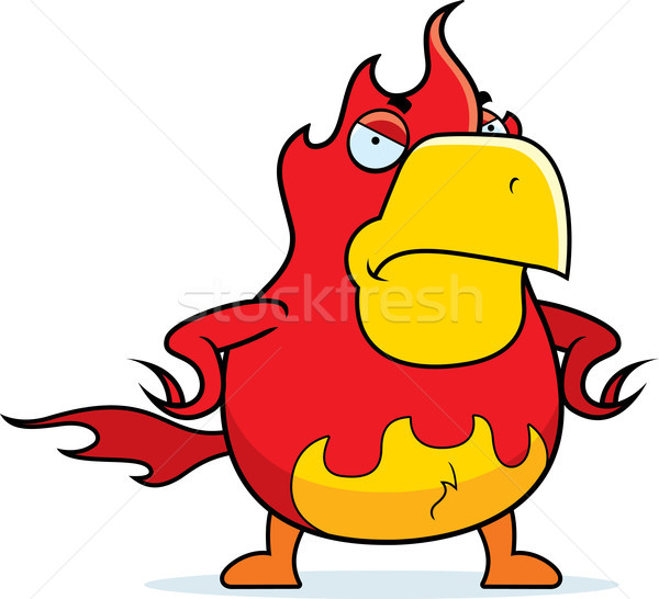 Stockfoto: Cartoon · phoenix · boos · brand