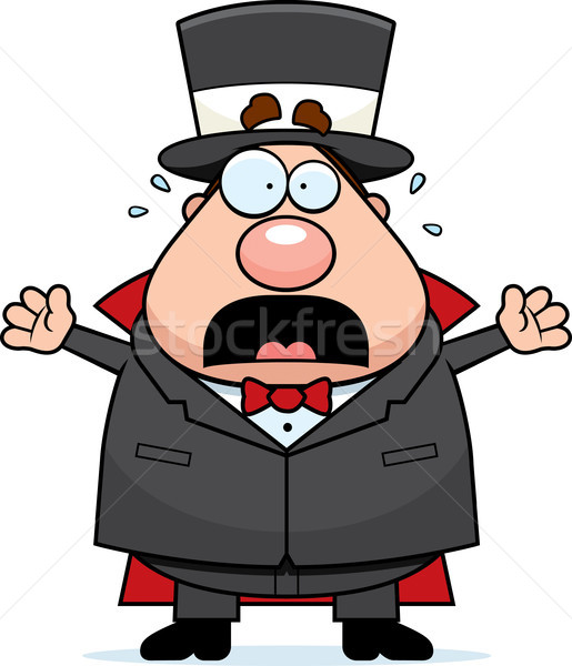 Cartoon Magician Panicking Stock photo © cthoman