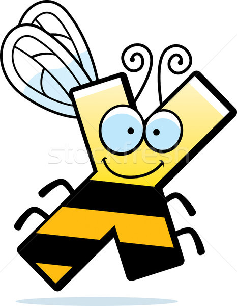 Stock photo: Cartoon Letter X Bug