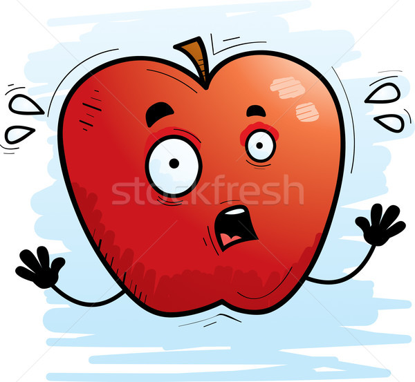 Scared Cartoon Apple Stock photo © cthoman