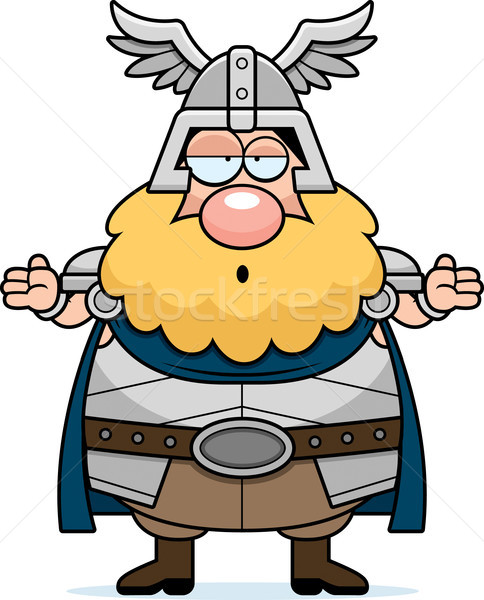 Confused Cartoon Thor Stock photo © cthoman