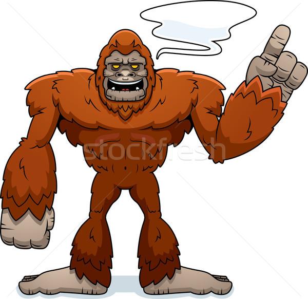 Cartoon parlando illustrazione animale mostro vettore Foto d'archivio © cthoman