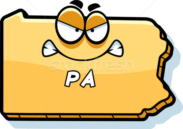 Desenho animado zangado Pensilvânia ilustração olhando américa Foto stock © cthoman