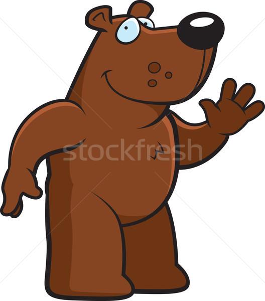 Bear Waving Stock photo © cthoman