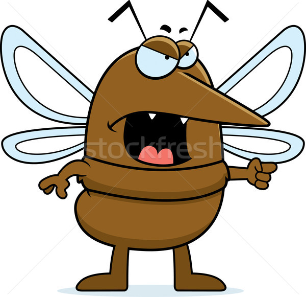 Arrabbiato zanzara cartoon insetto Foto d'archivio © cthoman