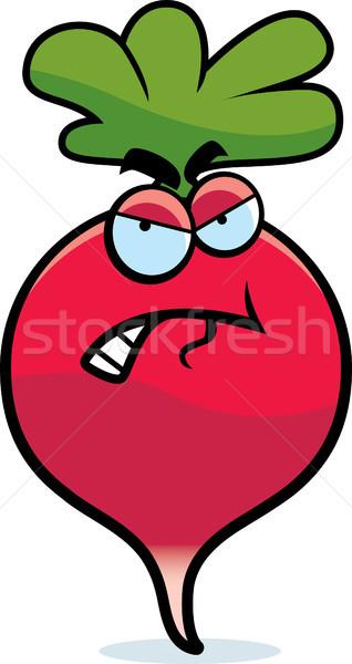 Cartoon Angry Radish Stock photo © cthoman