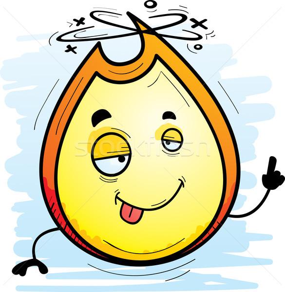 Bêbado desenho animado chama ilustração olhando feliz Foto stock © cthoman