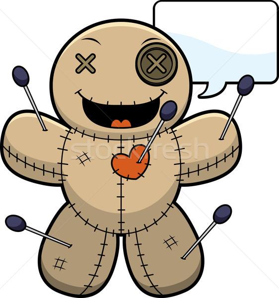 Talking Cartoon Voodoo Doll Stock photo © cthoman