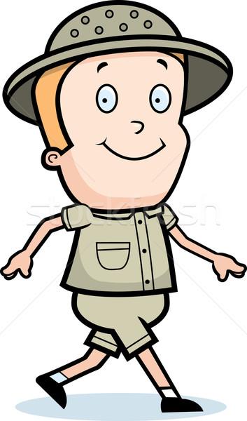 探險者 步行 快樂 漫畫 微笑 商業照片 © cthoman