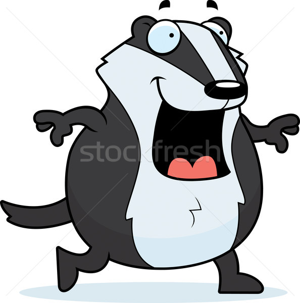 Cartoon Badger Walking Stock photo © cthoman