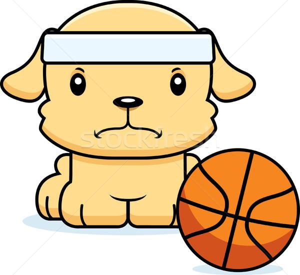Cartoon Angry Basketball Player Puppy Stock photo © cthoman