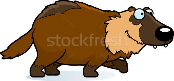 Cartoon lopen illustratie dier glimlachend grafische Stockfoto © cthoman