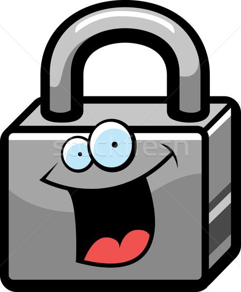 Padlock cartoon Vector Clip Art Royalty Free 948 Padlock