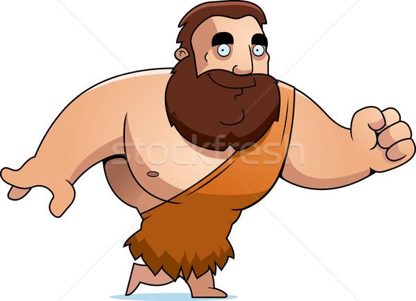 Cartoon Barbarian Walking Stock photo © cthoman