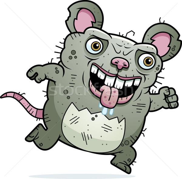 Lelijk rat lopen cartoon illustratie muis Stockfoto © cthoman