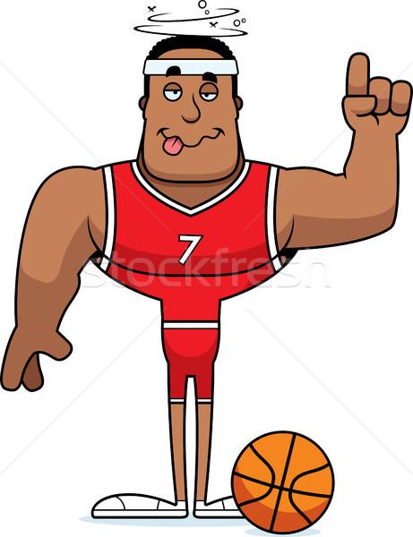 Desenho animado bêbado olhando basquetebol Foto stock © cthoman