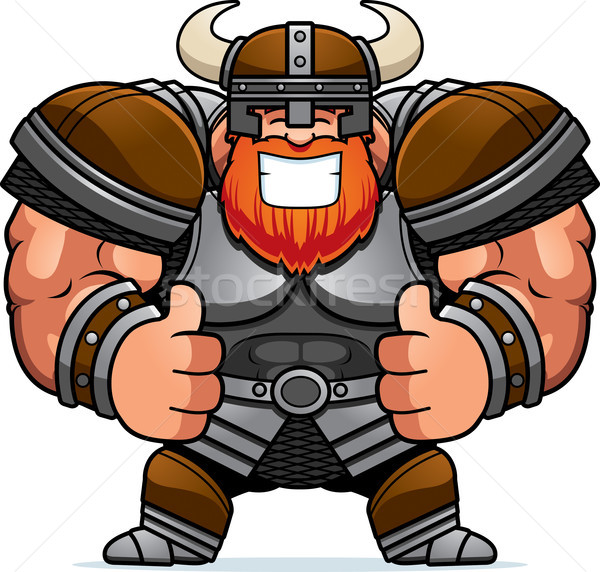 Cartoon Viking Thumbs Up Stock photo © cthoman