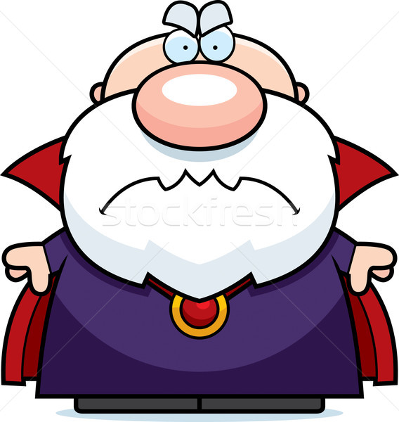 Cartoon colère illustration regarder homme personne Photo stock © cthoman