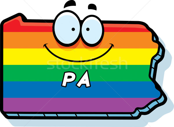 Cartoon Pennsylvania Gay Marriage Stock photo © cthoman