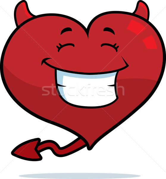 Devil Heart Smiling Stock photo © cthoman
