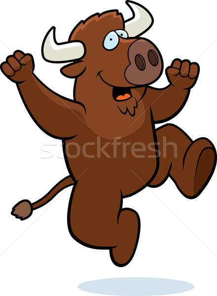 Buffalo Jumping Stock photo © cthoman