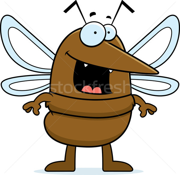 Zanzara sorridere felice cartoon piedi animale Foto d'archivio © cthoman