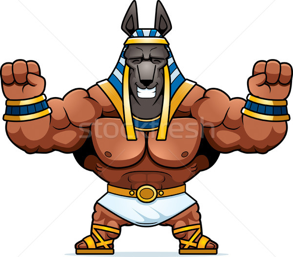 Cartoon Anubis Celebrating Stock photo © cthoman