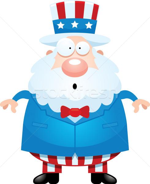 Verwonderd cartoon oom illustratie naar man Stockfoto © cthoman