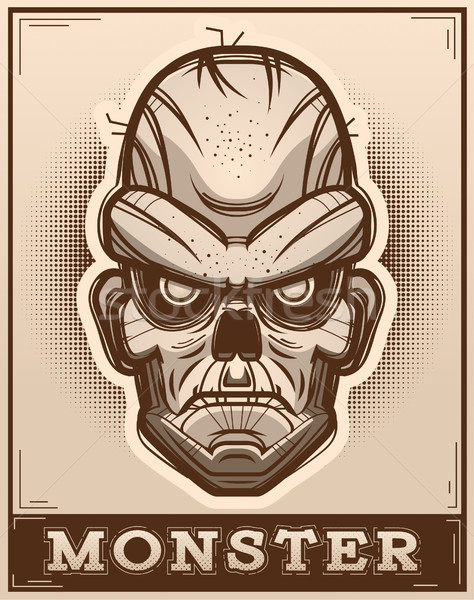 Zombie Poster Illustration Stock photo © cthoman