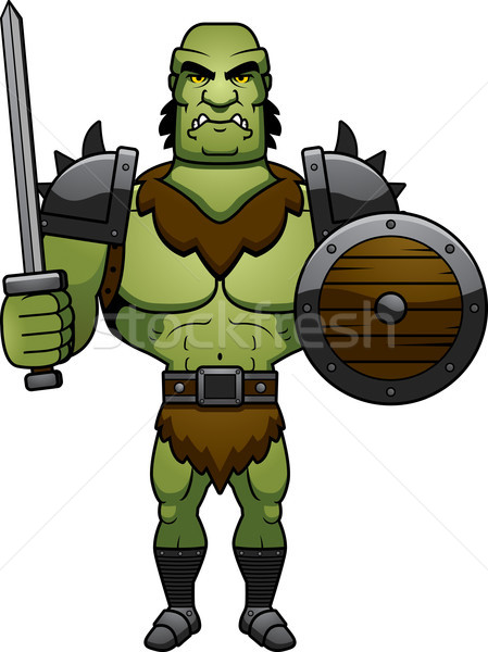 Cartoon Orc Battle Stock photo © cthoman