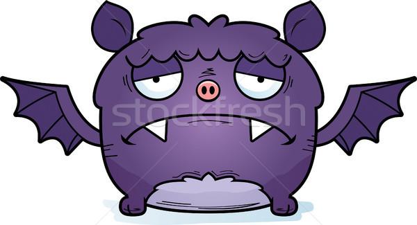 Deprimido pequeño bate Cartoon ilustración mirando Foto stock © cthoman