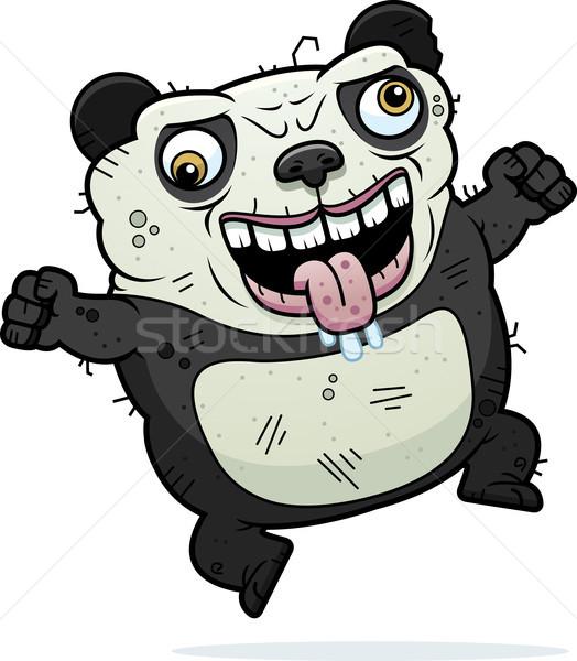 Crazy Ugly Panda Stock photo © cthoman