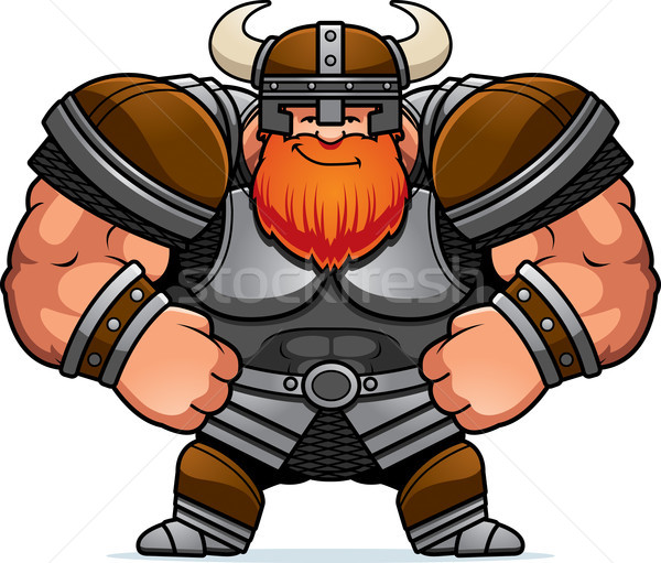 Cartoon Viking Confident Stock photo © cthoman