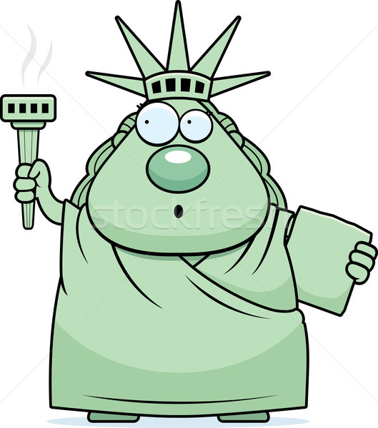 Surprised Cartoon Statue of Liberty Stock photo © cthoman