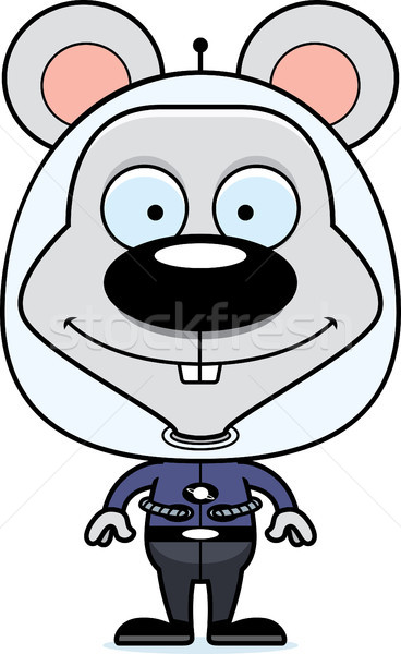 Cartoon Smiling Spaceman Mouse Stock photo © cthoman