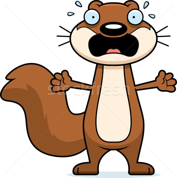 Scared Cartoon Squirrel Stock photo © cthoman