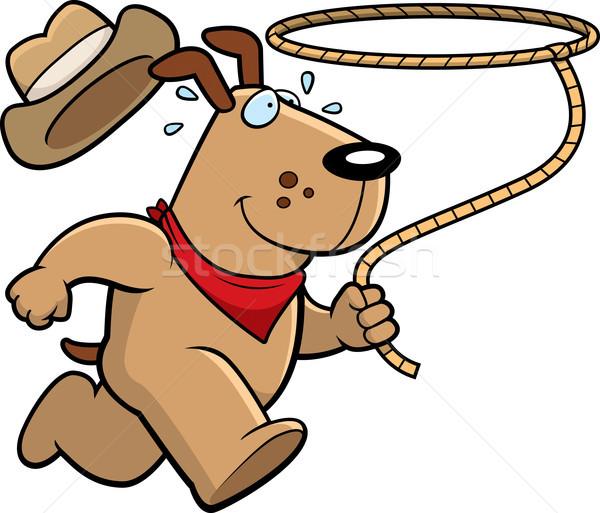 犬 ロデオ 幸せ 漫画 を実行して ストックフォト © cthoman
