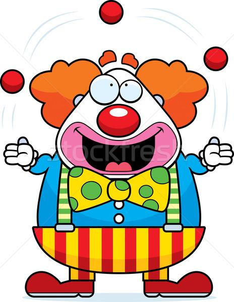 Cartoon Clown Juggling Stock photo © cthoman