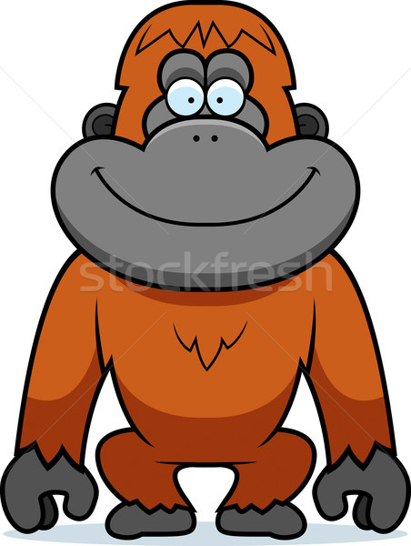 Cartoon Orangutan Stock photo © cthoman