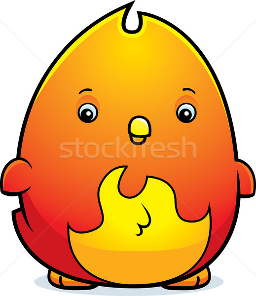Cartoon baby phoenix illustratie permanente brand Stockfoto © cthoman